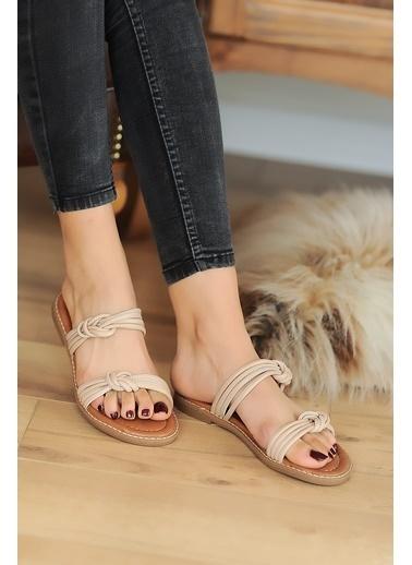 Pembe Potin A2074-20 Kadın sandalet Pudra